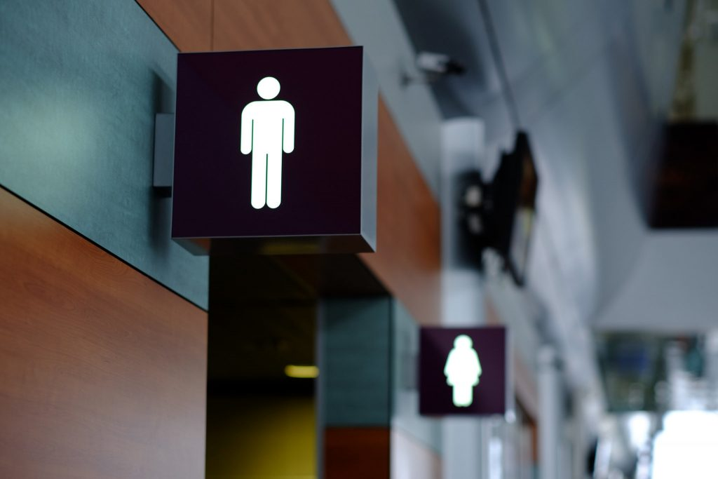Public Restrooms without Hands-Free Toilets